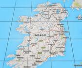 Ireland on Map — Stockfoto