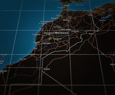 Marocco on Map — Stock Photo