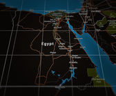 Egypt on Map — Stock Photo