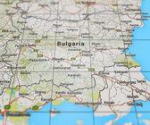 Bulgaria on Map — Stock Photo