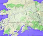 Alaska karta — Stockfoto