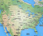 Mapa de los e.e.u.u — Foto de Stock
