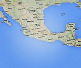 Mexico Map — Stock Photo