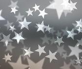 Gray Stars Bokeh Background — Foto de Stock
