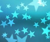 Blue Stars Bokeh Background — Foto de Stock