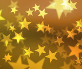 Gold Stars Bokeh Background — Foto de Stock