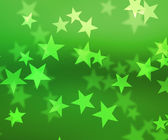 Green Stars Bokeh Background — Foto de Stock