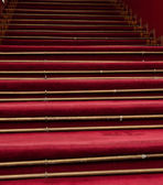 Red stair carpet — Stockfoto
