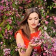 Beautiful Spring Girl with flowers — Stock Photo #25053663
