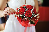 Wedding bouquet of red roses — Stock Photo