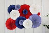 Pano origami barevného papíru na zeď — Stock fotografie