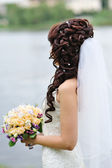Beauty wedding hairstyle. Bride — Stock Photo