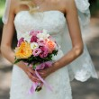 Stock Photo: Beautiful bridal bouquet with Roses