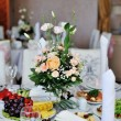 Stock Photo: Bridal wedding bouquet on table
