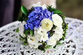 Beautiful wedding bouquet on the table — Stock Photo