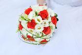 Wedding bouquet on white background — Stock Photo