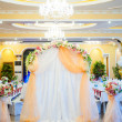 Stock Photo: Beautiful wedding arch with flowers
