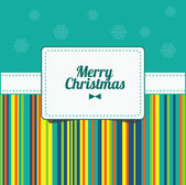 Christmas background vector image. Xmas card. Template frame. Vector Illustration — Stock Vector