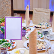 Stock Photo: Decorated wedding table in restaurant