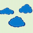 Stock Vector: Vector illustration of clouds