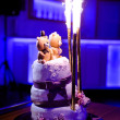 Stock Photo: Traditional and decorative wedding cake at wedding reception