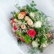 Beautiful wedding bouquet on a white background — Stock Photo