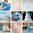 Stock Photo: Collage from wedding photos