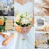 Wedding collage pastel, gentle tones — Стоковое фото