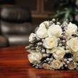 Bridal bouquet of white roses — Stock Photo #38471425