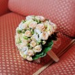 Stock Photo: Wedding bouquet on sofa