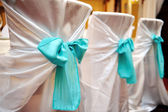 Wedding decorations in the restaurant — Stock Photo