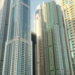 Modern buildings of the city skyscrapers — Stock Video