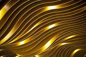 Wavy texture golden color — Foto de Stock
