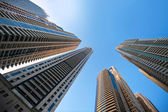 Office building skyscrapers on sky background — Stock Photo