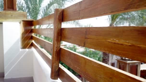 Dřevěné zábradlí venkovní