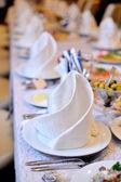 結婚披露宴の装飾されたボールルーム — ストック写真