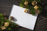 Noël et nouvel an. carte de voeux — Photo