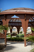 Romantic lounge gazebo at tropical resort — Stock Photo
