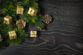 Beautiful background for Christmas and New Year greeting card — Photo
