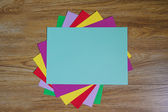Colored paper sheets  — Stock Photo