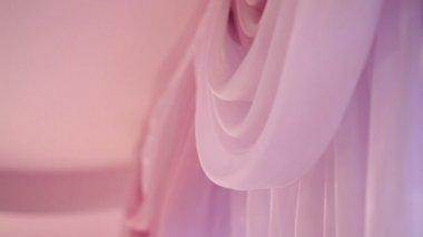 Beautiful light curtain in room — Stock Video