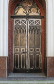Door decoration in forged iron Old town — Stock Photo