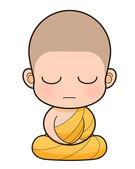 Buddhist Monk cartoon — Stock Photo