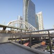 Stock Photo: BRT, Pubic skywalk with modern buildings of Bangkok