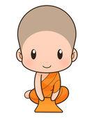 Buddhist Monk cartoon, illustration — Stock Photo