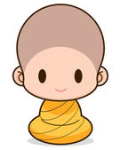 Buddhist Monk cartoon, illustration — Stock Photo