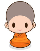 Chinese monks — Stock Vector