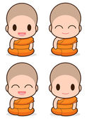 Buddhist Monk — Stock Vector