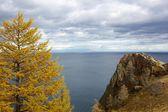 Amazing overlook onto Lake Baikal, Russia — Stock Photo