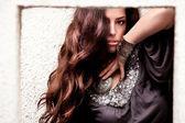 Beautiful long hair woman — Stock Photo